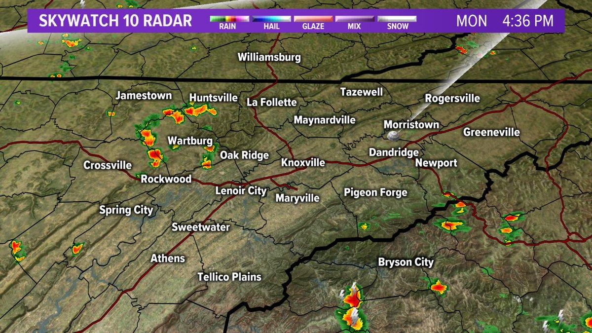 Wbir Weather On Twitter 4 35 Pm Radar A Few Spotty Showers Storms