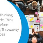 A design thinking approach: many believe that prototypes serve a temporary purpose and are ultimately replaced by something better. Should all prototypes be thrown away? https://t.co/IhV3D7Tfd8  #designthinking