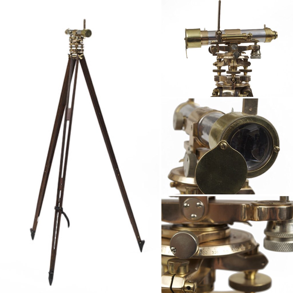 Decor that can transport us back to a fantastical past.  Here: A Standing Brass Theodolite on Mahogany Tripod Stand, English circa 1900. Link: https://t.co/hBTldeNSV6  . #steampunk #theodolite #steampunkstyle #vintage #scientificinstruments #19thcentury