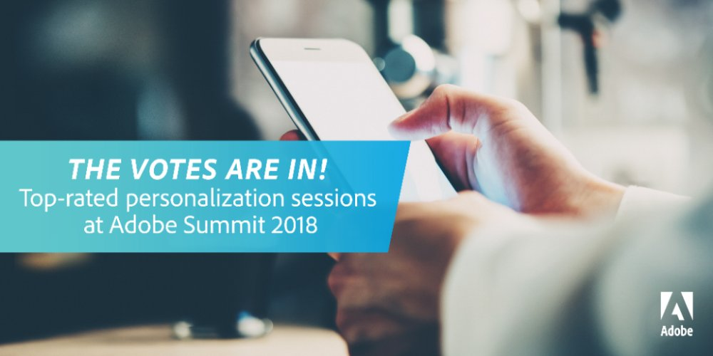 Re-live Summit 2018 by taking a quick look at the personalization sessions people liked the most: adobe.ly/2JTQ1rC