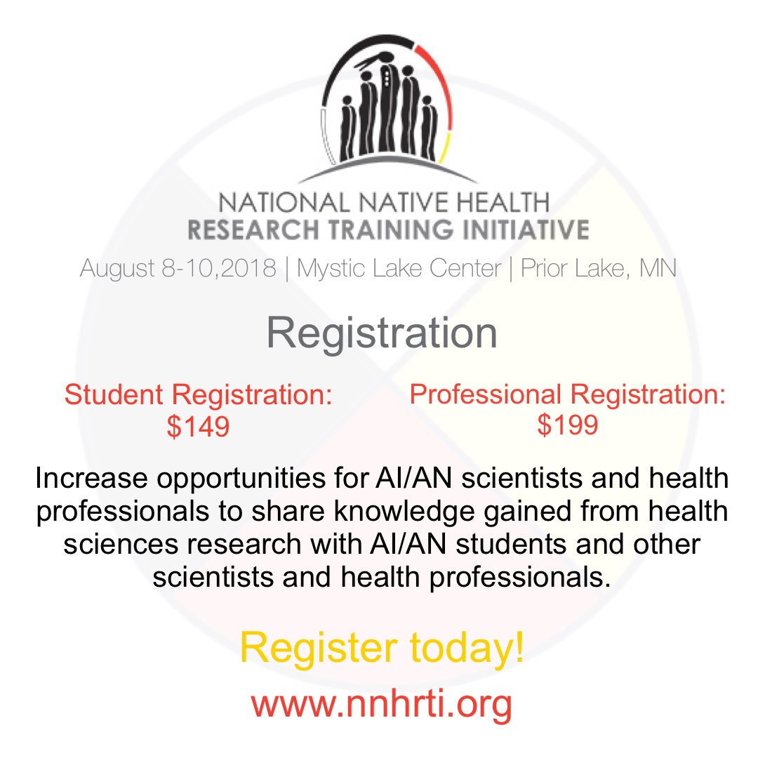 Aises National On Twitter Register For The National Native Health