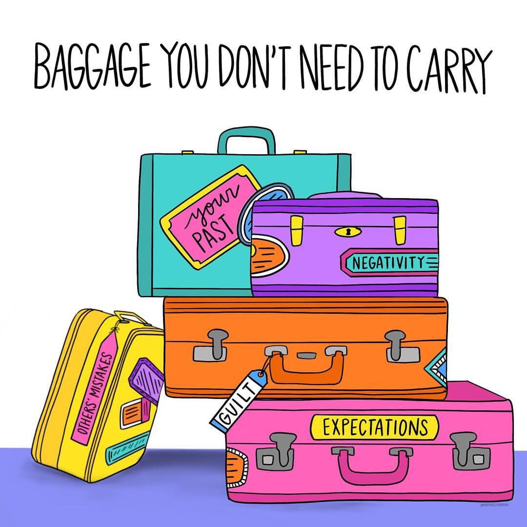 test Twitter Media - RT @actionhappiness: Baggage you don't need to carry: your past, negativity, others' mistakes, guilt & expectations https://t.co/b4EdFgc0SG