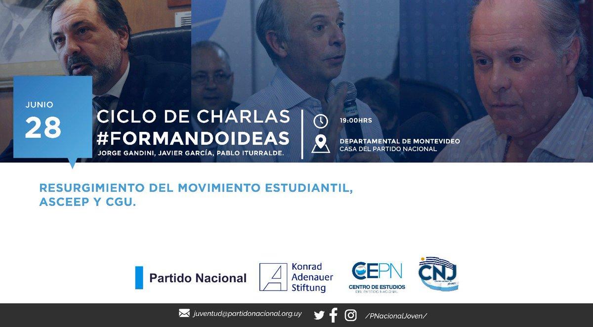 El @PNacionalJoven sigue con su ciclo de charlas! #ElFuturoEsPartidoNacional