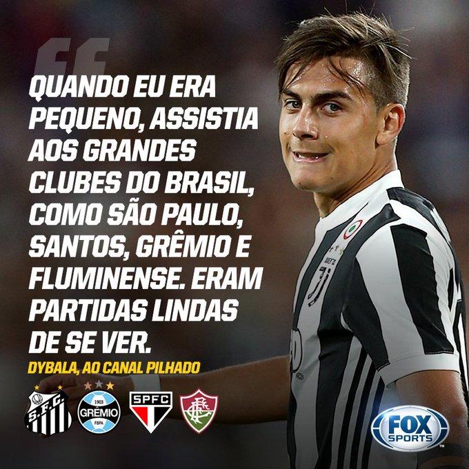 Dybala revelou ser fã da Libertadores e citou quatro times brasileiros que acompanhava muito na infância! #LibertadoresFOXSports #ItalianoFOXSports Foto