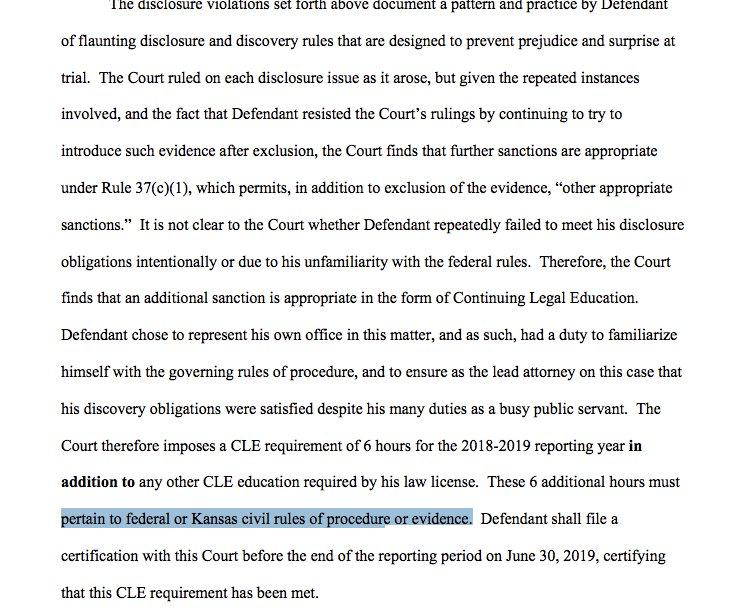 Sam Levine On Twitter Wow Federal Judge Sanctions Kansas Sos