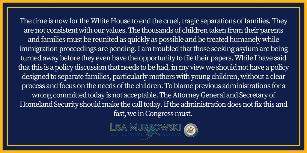 My statement on the practice of separating children and parents at the U.S. border: