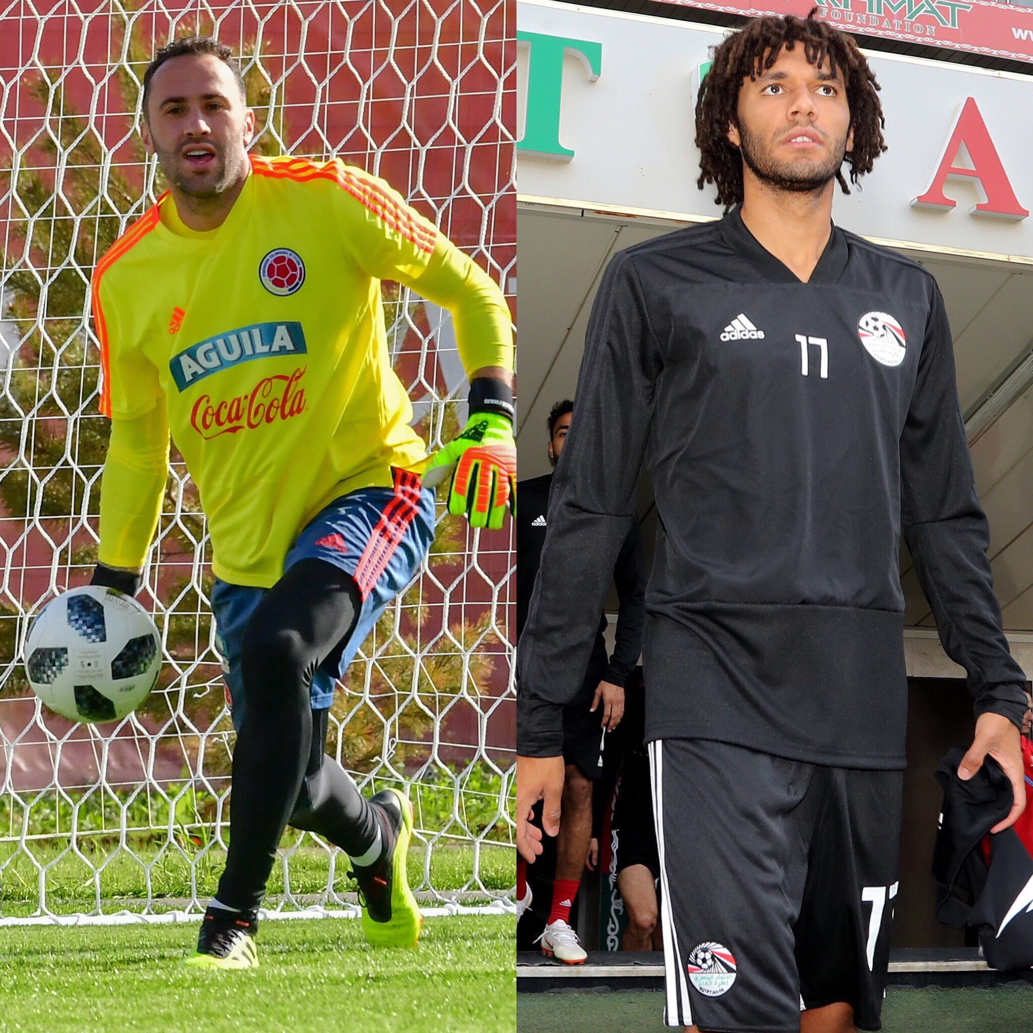 Good luck today lads ��  @D_Ospina1 and #COL v #JPN at 1pm (UK time)  @ElNennY and #EGY v #RUS at 7pm (UK time) https://t.co/bfy57EXWYe