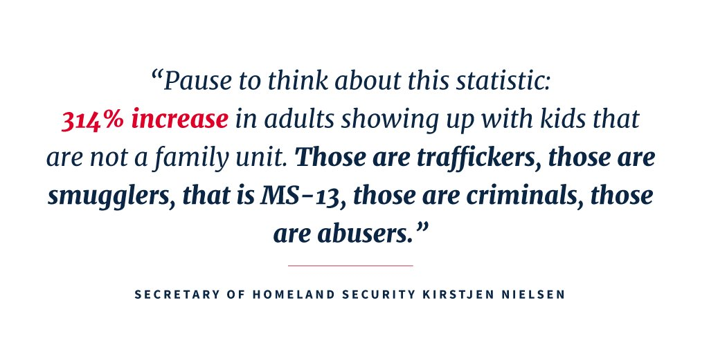 .@SecNielsen set the record straight on the family situation at the southern border. https://t.co/M3ncVS4acJ