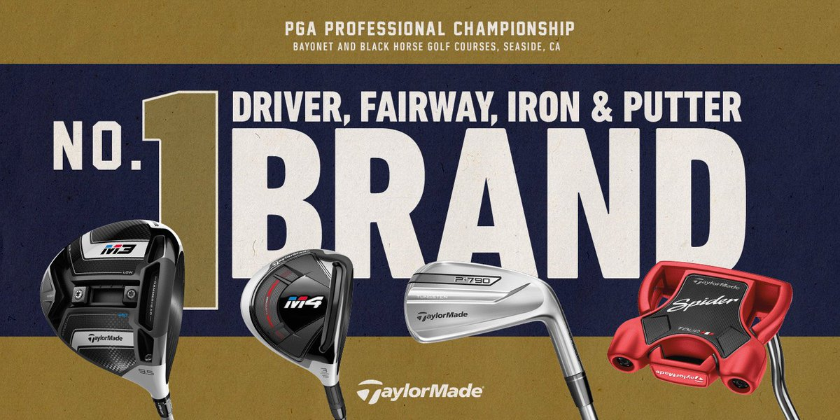 The people you trust with your game put their trust in TaylorMade. More PGA Professionals choose to play TaylorMade at the #PGAProChamp than any other brand. #1DriverinGolf #1FairwayinGolf