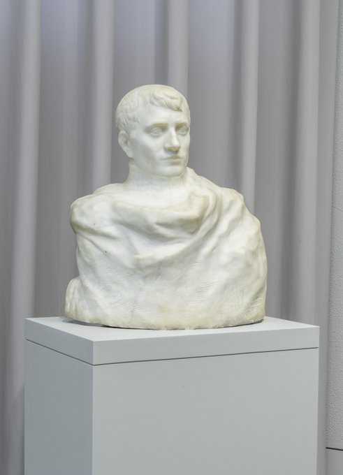 #OnThisDay in 1815, Napoleon lost the Battle of Waterloo, ending his time in power. See #Rodin's contemplative interpretation of Napoleon in this newly rediscovered marble bust, on view now at @philamuseum. Photo