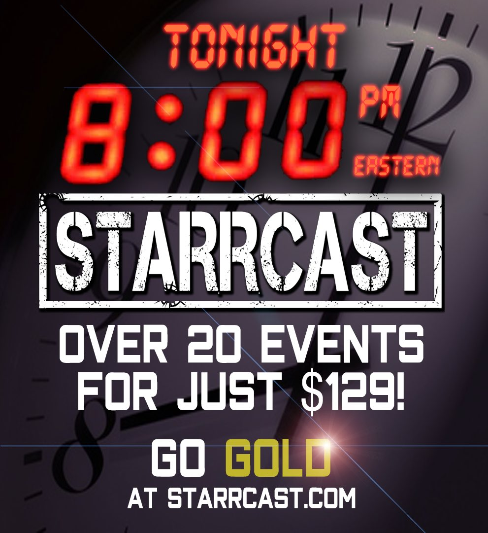 Go for the Gold! 20+ events for just $129 over @ALL_IN_2018 weekend available now Starrcast.com!