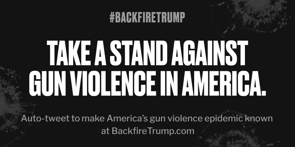 Another life was just lost in #Washington. #POTUS, it's time to do something. #BackfireTrump