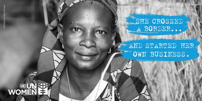 While women refugees rebuild their lives, they also contribute to economies. Show you're #WithRefugees & encourage the 🌍 to welcome ALL who had to flee their homes! Photo