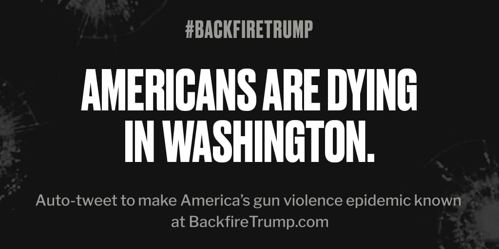 #Washington is suffering today after fatal shooting. #POTUS, stop the bloodshed. #BackfireTrump
