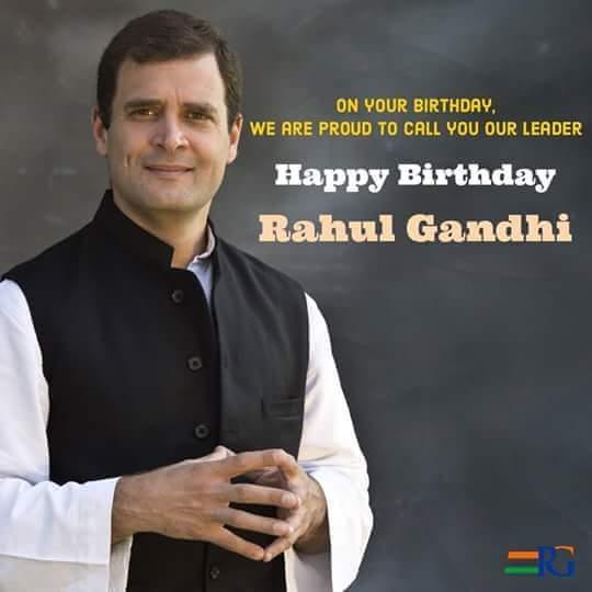 Wish you a very warm Happy birthday to Mr Rahul Gandhi.