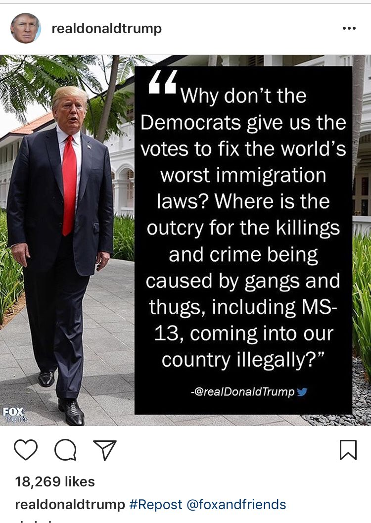 An Instagram from the President