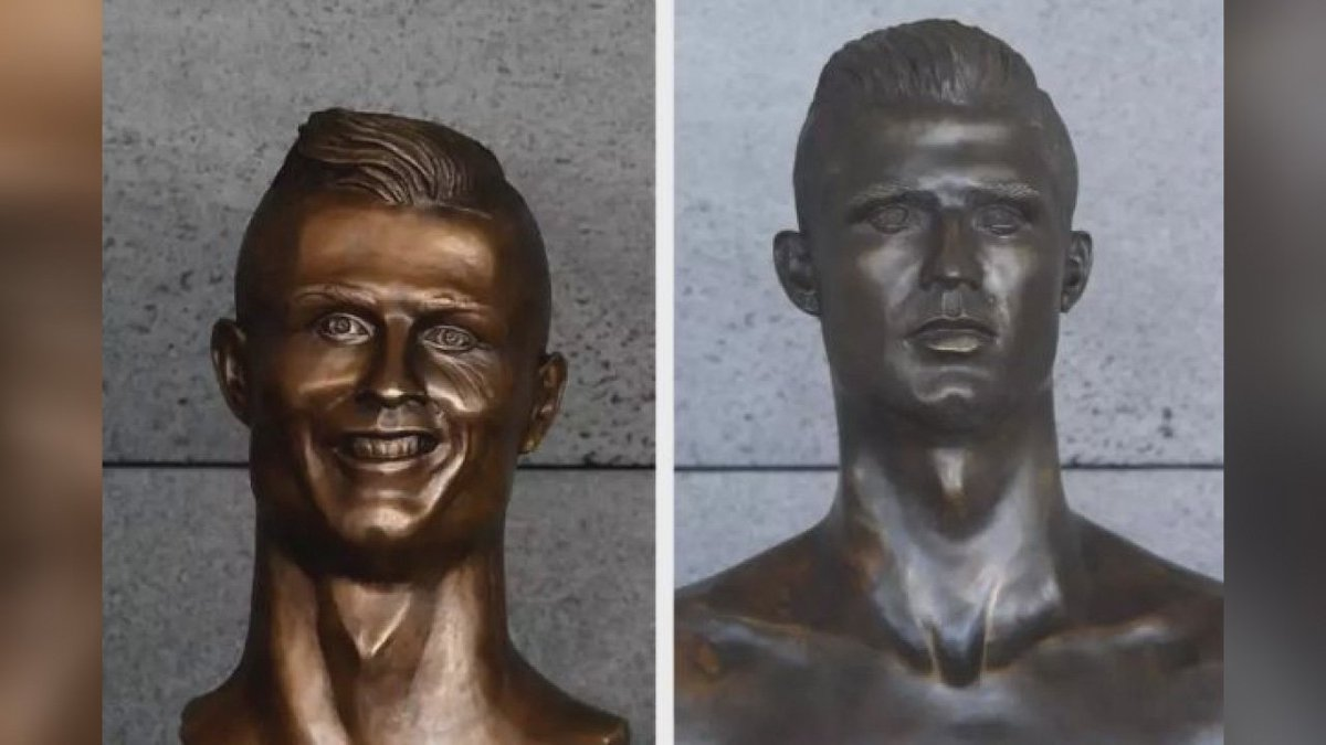 Infamous Cristiano Ronaldo statue replaced at Portugese airport https://t.co/Uk5gWGfHxW