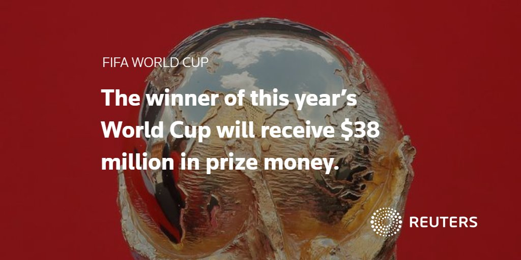 Ever wondered what the winning #WorldCup team actually takes home? Find out in @ReutersGraphics guide: https://t.co/7kjQ4NWkF3