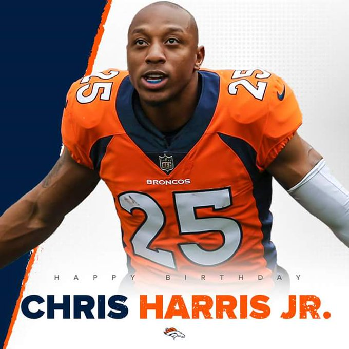 Chris Harris of the Denver Broncos is going to be 29 years old happy birthday
