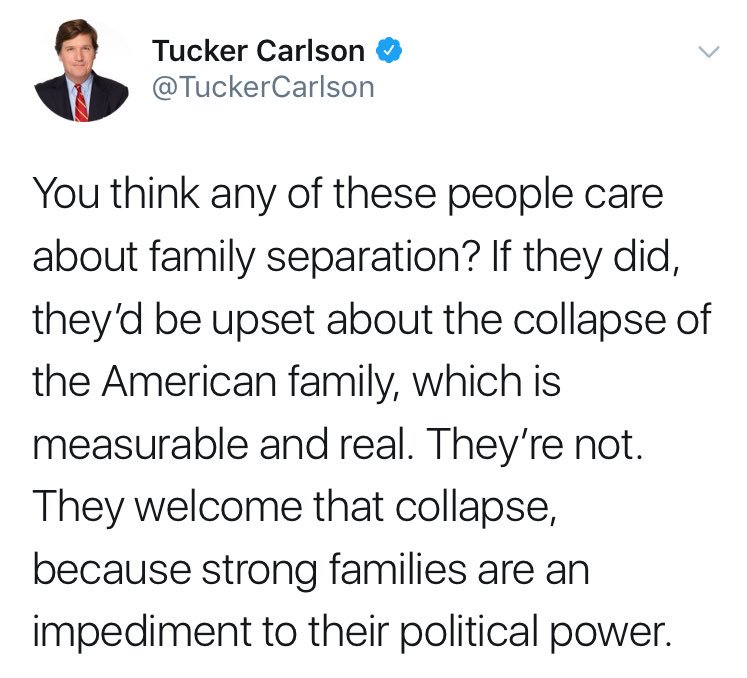 Tucker Carlson is mainstream media's foremost white nationalist. He is trying to frame inhumane racism as matter of patriotic respectability, and he belongs next to Goebbels in this history books. Make no exception for him or those who support his hateful propaganda.