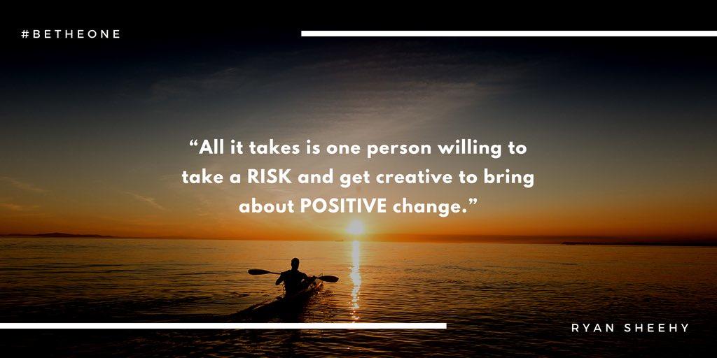 Take the risk and be creative. @sheehyrw #BeTheOne #PLNBookClub