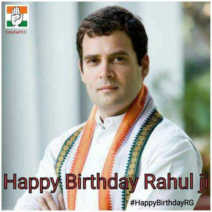 Wishing a very Happy Birthday to Rahul Gandhi, President of Indian National Congress.