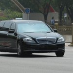 Image for the Tweet beginning: Kim motorcade stops traffic in
