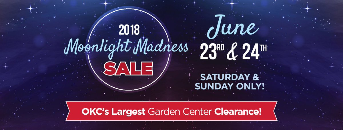 the biggest sale of the year at oklahomas largest garden center saturday and sunday only june 23rd 24th see you in the greenhouse - Tlc Garden Center