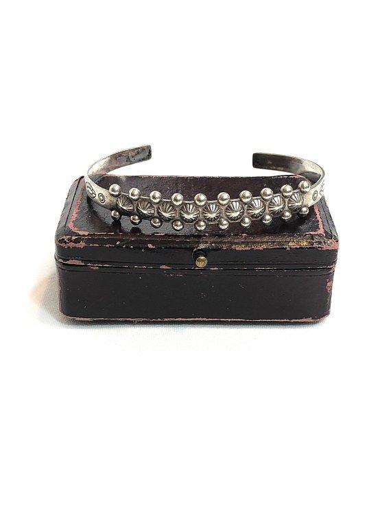 https://buff.ly/2JO5lKL Fred Harvey Era Sterling Silver Cuff Bracelet. #vogueteam #teamlove #vintagejewelry #SterlingSilver #nativeamerican #southwestern #cuff #vintagebracelet #etsyfinds #etsystore