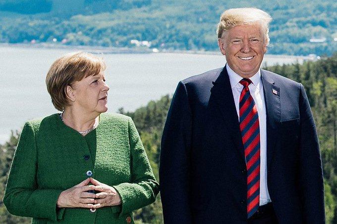 It sure looks like Donald Trump is trying to take down Angela Merkel: Foto