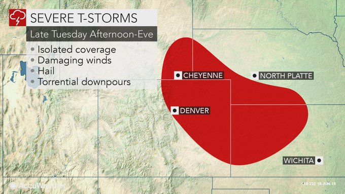 Severe storms pummeling portions of northeastern Colorado have a history of producing golf ball-sized hail and 70-mph wind gusts, resulting in property damage and dangerous travel conditions. Radar: Foto