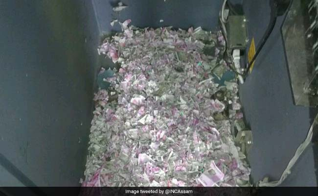Картинки по запросу Mice chew up cash worth Rs 12 lakh in Assam ATM
