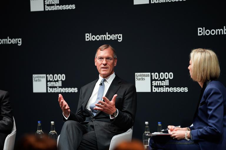 How much do leadership and management affect productivity levels? $GS' Richard Gnodde and @MikeBloomberg discuss with @flacqua #MakeSmallBig #10KSBUK<br>http://pic.twitter.com/15zyjTTXrr