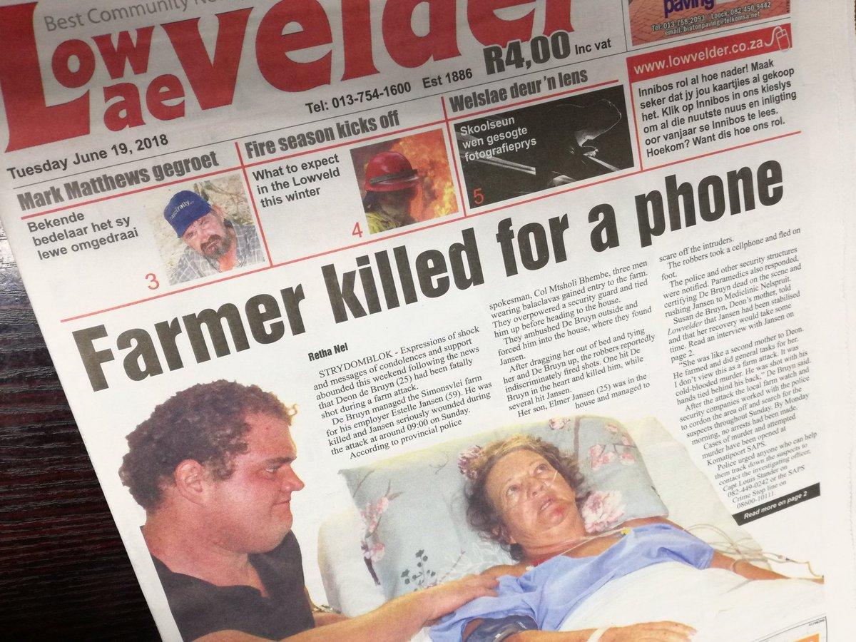 Moordorgie swart op wit woed voort/plaasmoorde en aanvalle DgC1hfMX0AEIQvG