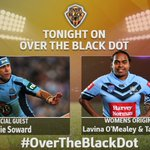 @sowwowofficial6 joins the panel as live guest and Special Feature on Womens @NSWRL State of Origin players Lavina O'Mealey and Taleena Simon. Live cross with @NakiaWelsh. Tonight on #OverTheBlackDot at 8.30pm on NITV (Ch. 34) @DjuroSen @gorgeousgrose @TimanaTahu @ChrisBathTV