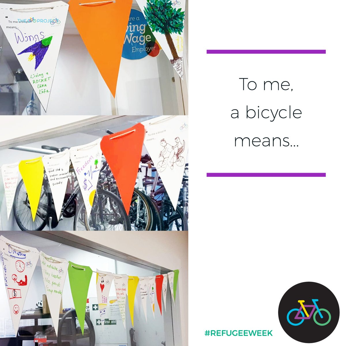 The Bike Project On Twitter Check Out The Cheerful Banners Our