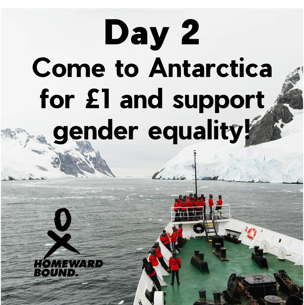 Day 2 of my 30 day campaign! Every donation, small or big, makes a huge difference - donate just £1 &amp; you can come to #Antarctica with me to promote #womeninSTEMM &amp; #climatechange! @HomewardBound16 @Chuffed #FundOneInspireMany #TeamHB2019 #generationequal  https:// chuffed.org/project/helenw ade-homewardbound &nbsp; … <br>http://pic.twitter.com/LTjJcRs6mb