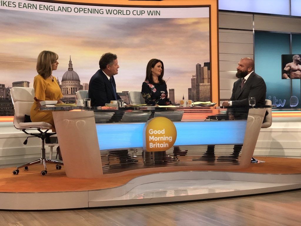 Thank you @GMB for having me this morning to discuss our historic return to @RoyalAlbertHall and the announcement of #NXTUK.