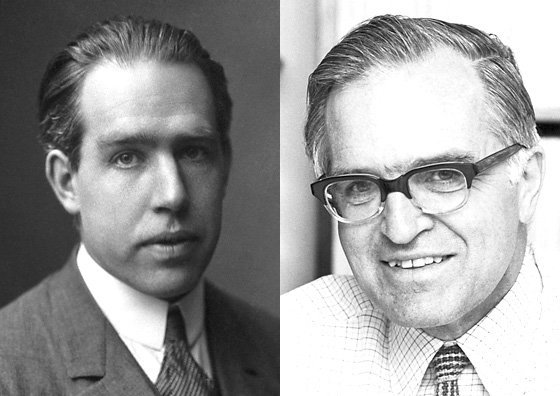 Niels Bohr was awarded the 1922 Physics Prize for his model of the structure of the atom. 53 years later his son Aage Bohr, born #onthisday, was awarded the 1975 Physics Prize for work on the structure of the atomic nucleus. Photo