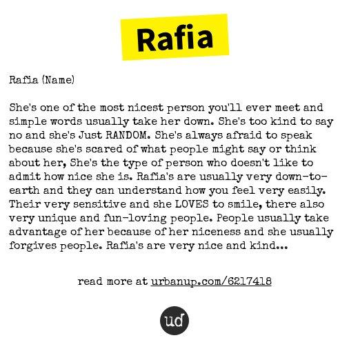 rafia name
