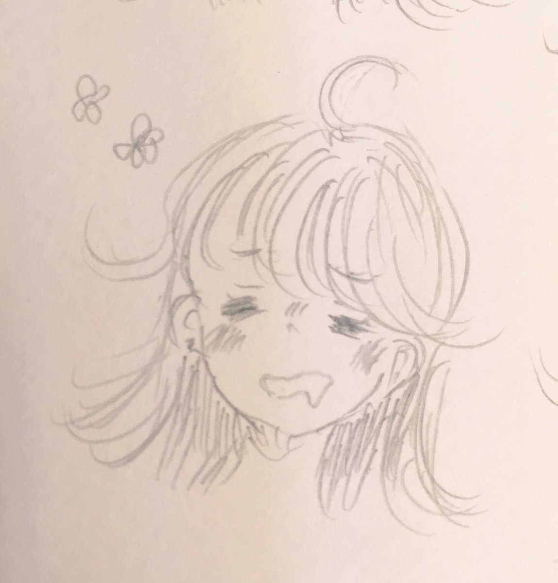 ユメノちゃんで表情練習 あくまで落書きだよ!!  お気に入りはこの2枚( ˘⊖˘)