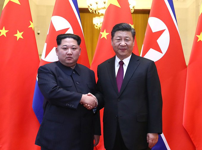 North Korean leader #KimJongUn began a surprise two-day visit to China on Tue, his third trip to China in 3 months, with analysts saying that Kim is expected to discuss the implementing details of the document signed during #TrumpKimSummit. (Photo: Xinhua) Photo