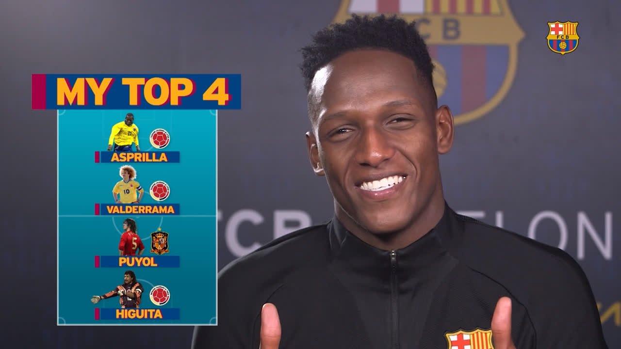 Ahead of Colombia's #WorldCup opener, Yerry Mina picks his ��4️⃣ legends! ���� #BarçaWorldCup https://t.co/XfzOGyzPRp