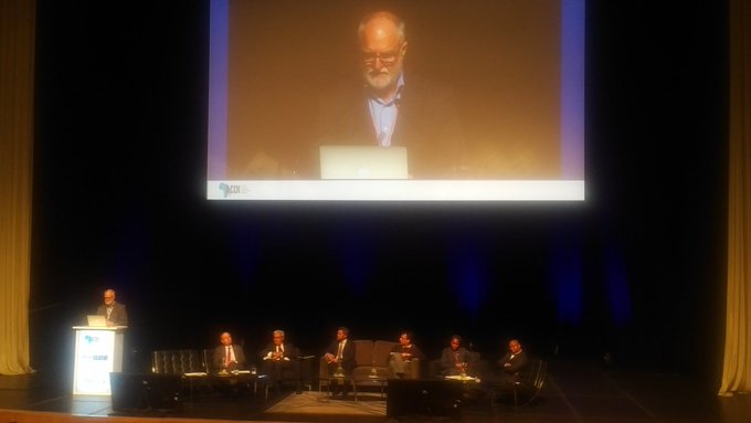 If we continue to work in silos on #ClimateChange, we may well find ourselves sitting on top of those silos when sea levels continue to rise Noel Oettle of @SAadapt at #AF2018 @AdaptFutures opening plenary Photo