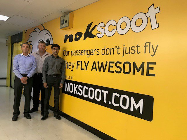 Our #ClientServices team arrive at @NokScoot to kick of the ENVISION nGen maintenance information system project. #RusadaProjects #AvMRO #AvTech