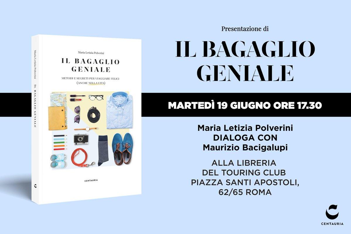 Oggi la prima presentazione!Sicuri di aver scelto bene cosa portare con voi in viaggio... e nella vita? Ne parliamo oggi a Roma con Maria Letizia Polverini e Maurizio Bacigalupi.http://goo.gl/sW4LUk #19giugno #leggiamo  - Ukustom