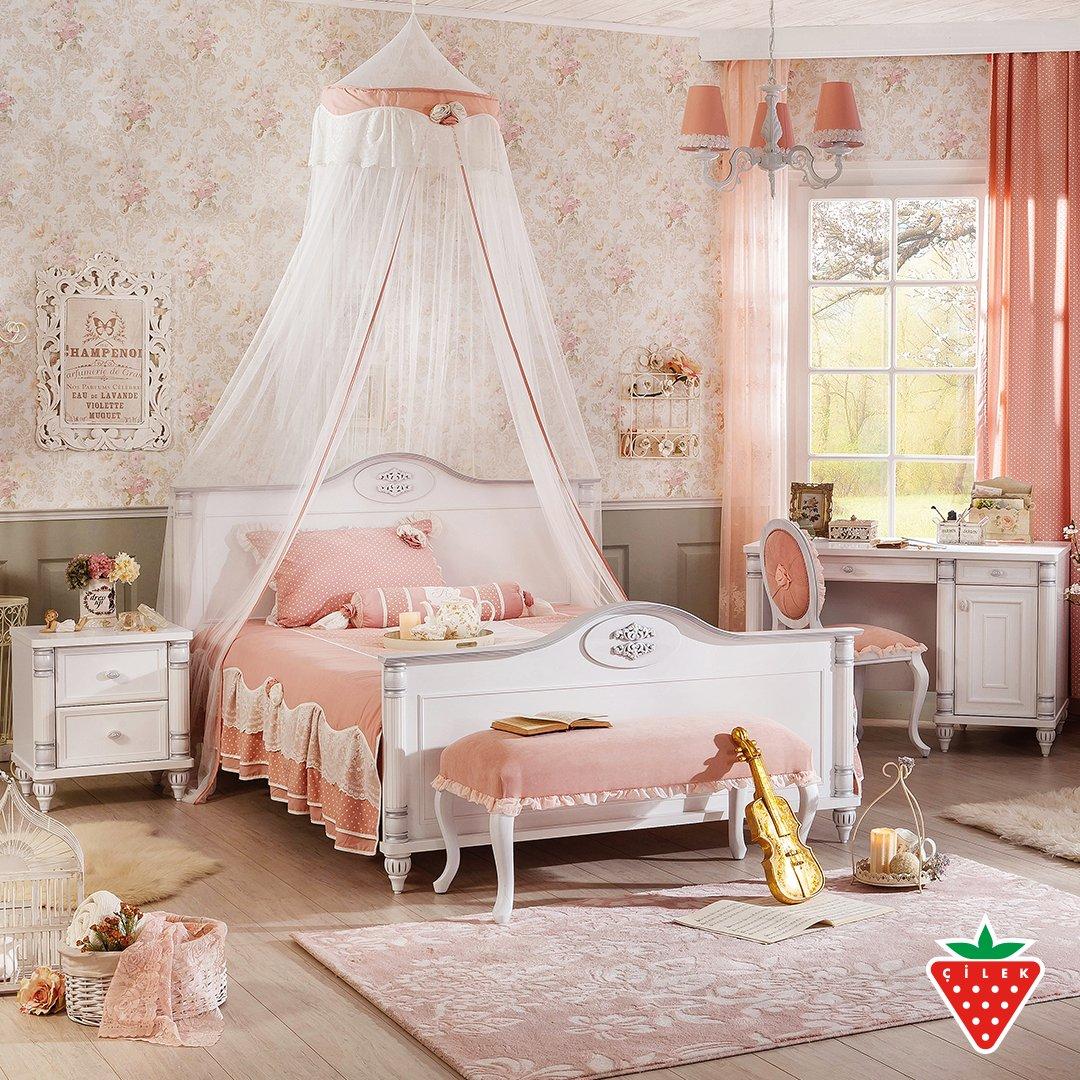 Romantic and elegant teen girl room, Romantic Series. #teenroom #cilekroom   https://t.co/ZBe3uatsP6 https://t.co/kPNYUymZ51