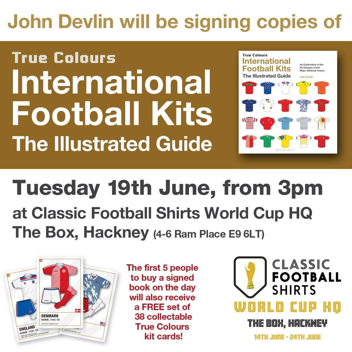 The first 5 people to buy a signed copy will also receive a free set of 38  collectable True Colours kit cards.  CFSWCHQpic.twitter.com XQpATIT1wN 610a4353f