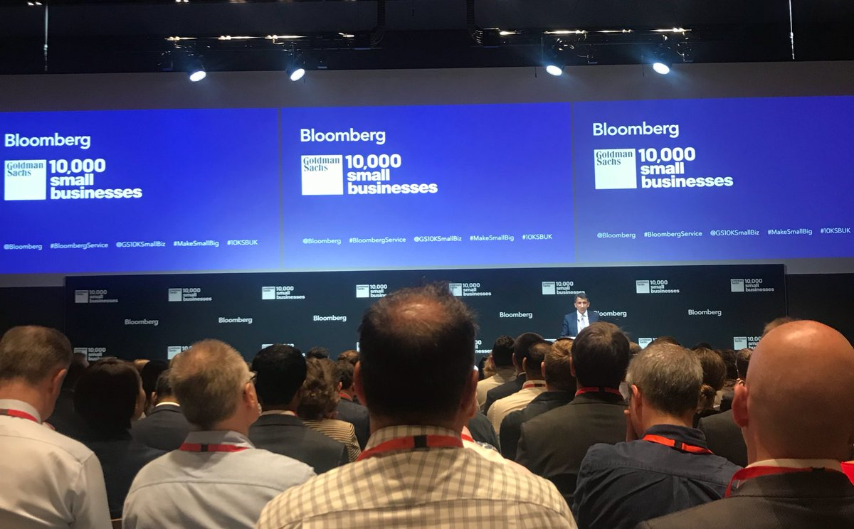 Excited to be here at #Bloomberg @business great to be part of the @GS10KSmallBiz alumni. Great line up of speakers with @SadiqKhan @MikeBloomberg and my awesome company @creativenature supplying the #freefrom snacks #MakeSmallBig #10KSBUK<br>http://pic.twitter.com/lK4LGVBnHt