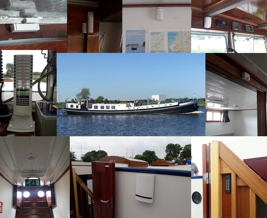 alarm system can also be installed on the boat